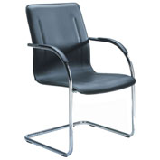 Boss Chrome Frame Black Vinyl Side Chair 2 Pack - Pkg Qty 2