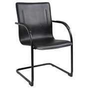 Boss Black Frame Black Vinyl Side Chair 2 Pack - Pkg Qty 2