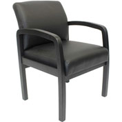 Boss Elegant LeatherPlus Guest Chair - Black
