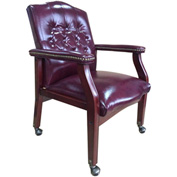 Boss Reception Guest Chair - Vinyl - Burgundy