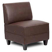 Boss Reception Sectional - Sofa End - Leather - Brown
