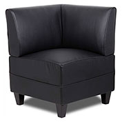 Boss Reception Sectional - Corner Sofa - Leather - Black