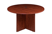 "Boss 47"" Round Conference Table - Cherry"