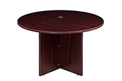 "Boss 47"" Round Conference Table - Mocha"