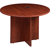 "Boss 42"" Round Conference Table - Cherry"