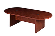 "Boss 95""W x 47""D Racetrack Conference Table, Cherry"