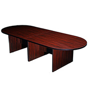 Boss 10' Racetrack Conference Table - Mahogany