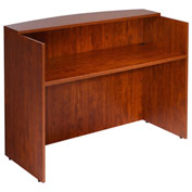 "Boss Reception Desk 48""W X 26""D X 41-1/2""H Cherry"