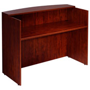 "Boss Reception Desk 48""W X 26""D X 41-1/2""H Mahogany"