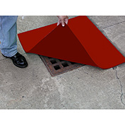 "ENPAC® Spill Protector Drain Cover, 24"" x 24"" x 1/2"", Orange, 4324-SP"