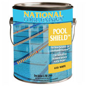 National Pool Shield™ Chlorinated Rubber Pool Paint, White, Gallon, 1/Case - 6101-G