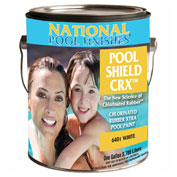 National Pool Shield CRX™ Chlorinated Rubber Xtra, Aqua, Gallon, 1/Case - 6403-G
