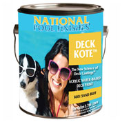 National Deck Kote™ Acrylic Waterbase Deck Paint, Sandstone, Gallon, 1/Case - 6611-G