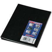 NotePro® Plain-Ruled Hardcover Notebook, 11 x 8-1/2, 300 Pages, Black