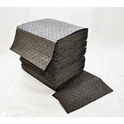 """Spilfyter® Standard Universal Perfed Pad, Heavy Weight, 16"""" x 18"""" Gray, 100/Pack"""