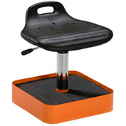 Milagon Tasq Standing Support Work Stool with Tool Caddy - Polyurethane - Black