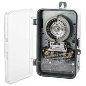 NSI TORK® 1104B-PC 24 Hour Time Switch 40A 208-277V DPST Indoor/Outdoor Plastic Clear Cover Encl