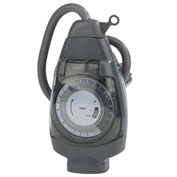NSI 601A One Outlet, 24 Hr. Mechanical Outdoor Plug-In Timer 125V,15A
