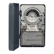 NSI TORK® 7100 24 Hour Skip A Day Time Switch, 40A, 120V, SPST, Indoor Metal Enclosure