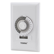 NSI TORK® 711A 24 Hour Wall Switch Timer, 15A, 125V, White, 30 Minute Tabs
