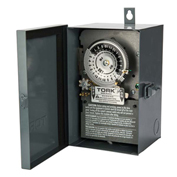 NSI TORK® 7300 24 Hour Skip A Day Time Switch, 40A, 120V, 3PST, Indoor/Outdoor Metal Enclosure