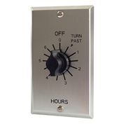NSI C506H 6 Hr. Twist Timer W/ Metal Wallplate