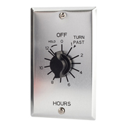NSI TORK® C512HH 12 Hour Spring Wound Twist Timer with Hold, 125-277V, SPDT, Metal Wallplate