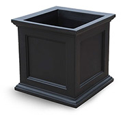 "Fairfield 28"" Square Planter - Black"
