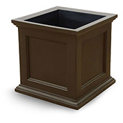 "Oxford 28"" Square Planter, Espresso"