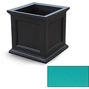 "Oxford 28"" Square Commercial Planter, Ocean Blue"
