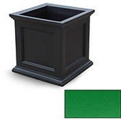 "Oxford 28"" Square Commercial Planter, Spring Green"