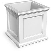 "Oxford 28"" Square Planter, White"