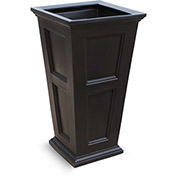 "Fairfield 40"" Tall Planter - Black"