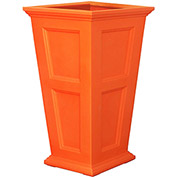 """Oxford 40"""" Tall Commercial Planter, Coral Orange"""