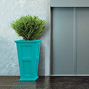 """Oxford 40"""" Tall Commercial Planter, Ocean Blue"""