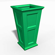 """Oxford 40"""" Tall Commercial Planter, Spring Green"""
