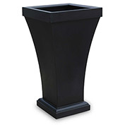 "Bordeaux 40"" Tall Planter - Black"