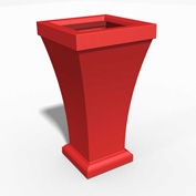 """Bordeaux 40"""" Tall Commercial Planter, Poppy Red"""
