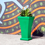 """Bordeaux 40"""" Tall Commercial Planter, Spring Green"""