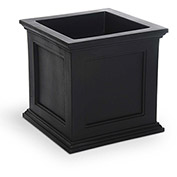 "Oxford 20"" Square Planter, Black"