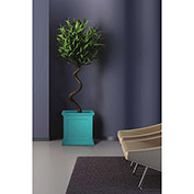 "Oxford 20"" Square Planter, Ocean Blue"