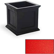 "Oxford 20"" Square Commercial Planter, Poppy Red"