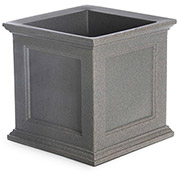 "Oxford 20"" Square Commercial Planter, Sandstone"