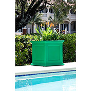 "Oxford 20"" Square Commercial Planter, Spring Green"