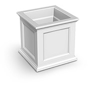 "Oxford 20"" Square Planter, White"