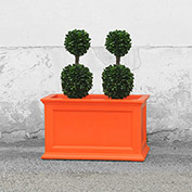 Oxford 20x36 Rectangle Commercial Planter, Coral Orange