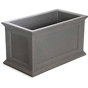 Oxford 20x36 Rectangle Commercial Planter, Sandstone