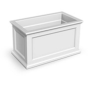 Oxford 20x36 Rectangle Commercial Planter, White