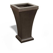 "Bordeaux 28"" Tall Commercial Planter, Espresso"