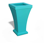 "Bordeaux 28"" Tall Commercial Planter, Ocean Blue"